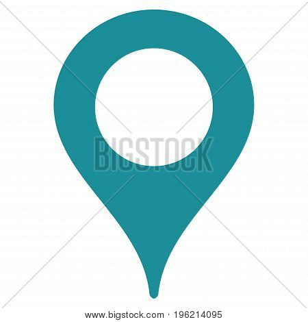 Map Marker vector icon. Flat soft blue symbol. Pictogram is isolated on a white background. Designed for web and software interfaces.