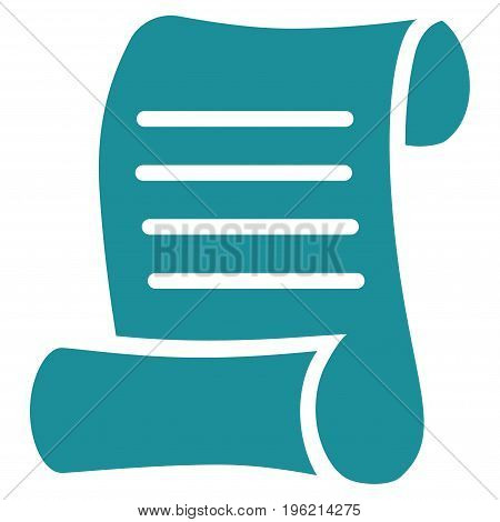 Script Roll vector icon. Flat soft blue symbol. Pictogram is isolated on a white background. Designed for web and software interfaces.