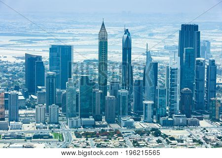 Photo Of Modern Skyscrapers In Dubai City UAE