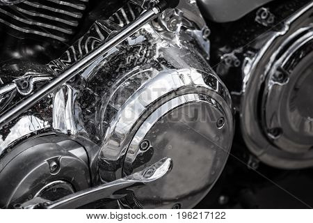 Details on a sport motobike as a background