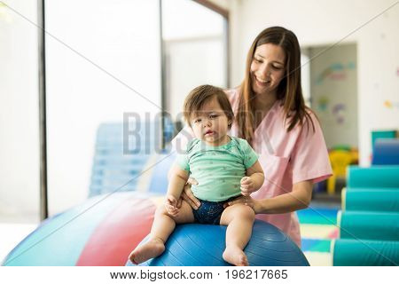 Infant In A Therapy Center