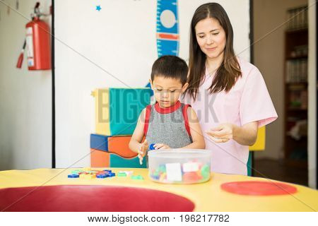 Little Boy Taking Language Therapy