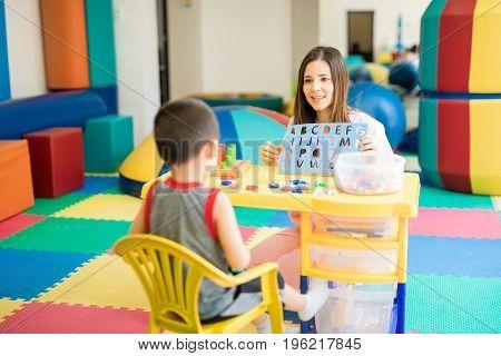 Language Therapist At A School