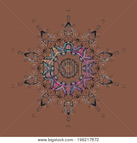Fine winter ornament. Vector illustration. Snowflakes collection. Isolated of vector snowflakes.