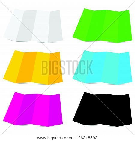 paper colored set vector illustration on white