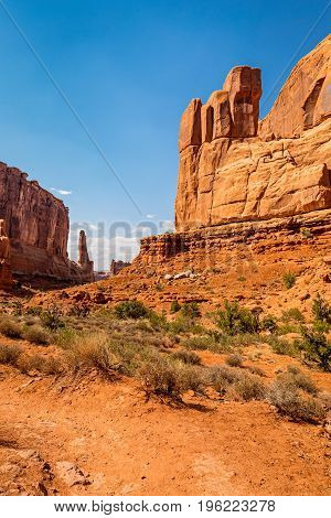 Park Avenue trail in Arches National Park Moab Utah
