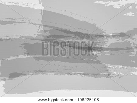 Abstract gray texture. Watercolor background. Grunge paint ink brushstrokes. Vector illustration.