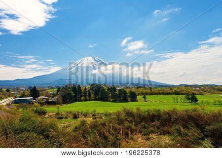 Farm Near Mountain Fuji