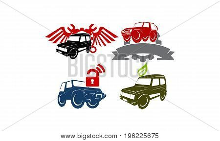 Jeep Car Service Ribbon Leaf Gear Wing Lock Collection2