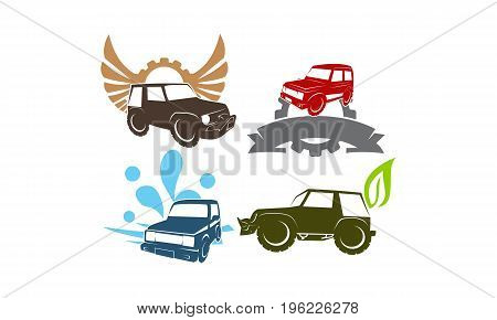 Jeep Car Service Wing Gear Ribbon Leaf Water Collection1