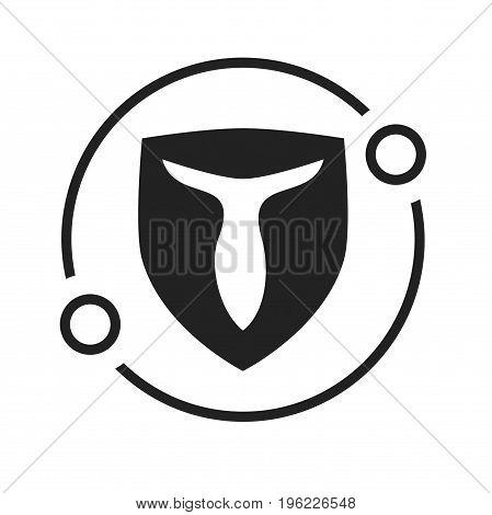 t letter in shield logo design, letter logo design
