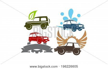Jeep Car Service Wing Gear Ribbon Leaf Water Collection3