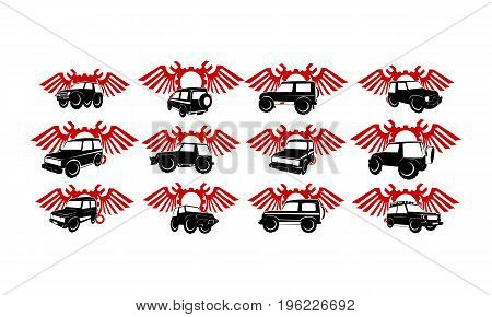 This image describe about Adventure Car Wing Gear wrench Bundle Collection Set