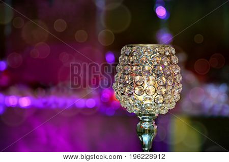 Crystal Candle Holder Candle Holder Cup to decorate.