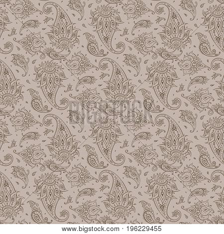 Paisley Beautiful seamless background. Elegant Hand Drawn vintage Pattern