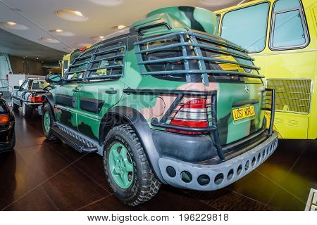STUTTGART GERMANY- MARCH 19 2016: Mid-size SUV Mercedes-Benz ML320 1997. This car was used in the filming