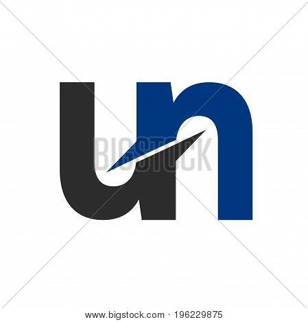 un letter logo design, letter logo design