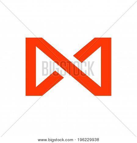 M letter infinity logo design, modern logo design