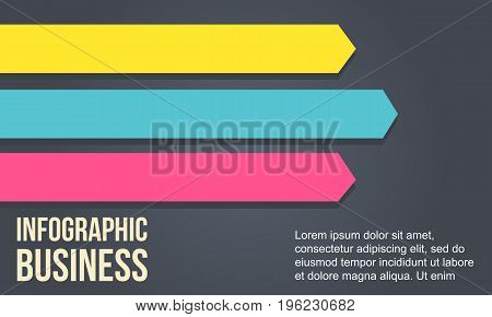 Arrow design element for business Infographic vector illustration