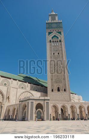 Hassan II Mosque in Casablanca town,  Morocco, Africa