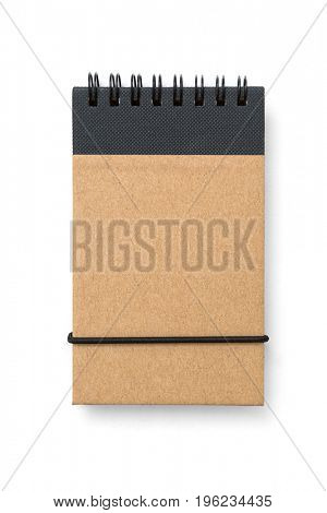 Brown copybook template with elastic band