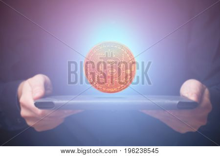 Bitcoin over tablet