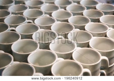 Bunch of coffee cups - grouped
