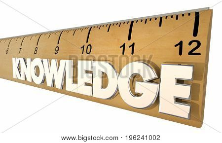 Knowledge Ruler Education Learning School 3d Illustration