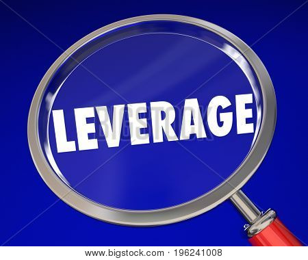 Leverage Magnifying Glass Influence Power 3d Illustration