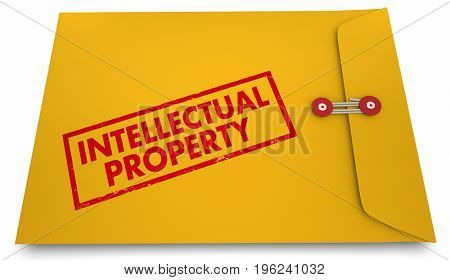 Intellectual Property IP Envelope Protected Product 3d Illustration