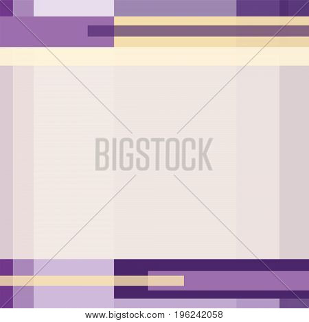 Geometric technology pattern with rectangles and strips. Modern background in purple, yellow hues. Layout minimalistic design with text place for covers, presentations, brochures, prospectuses. Vector EPS10