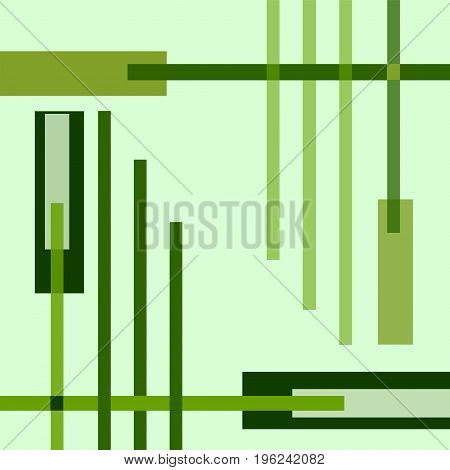 Conceptual geometric vector background with bright green strips. Modern trendy technology template. Layout design for cover, booklet, brochure, poster, wallpaper, presentation, flyer, leaflet, annual report. Abstract pattern. EPS10