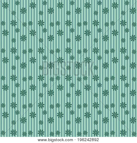 Simple cute pattern in small flowers of maiden green.