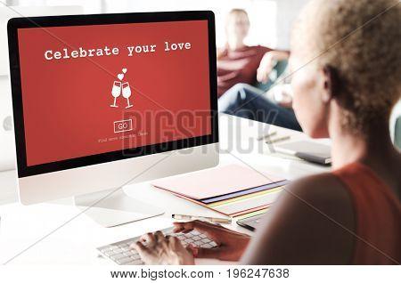 Celebrate Your Love Valentine's Day Romance Concept