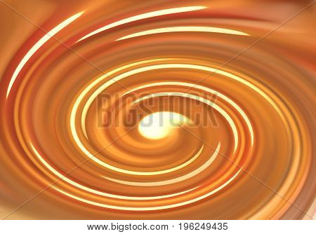 Abstract bright orange whirlpool pattern for background
