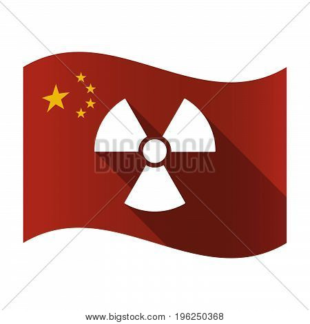 Isolated China Flag With A Radio Activity Sign
