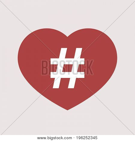 Isolated Heart With A Hash Tag