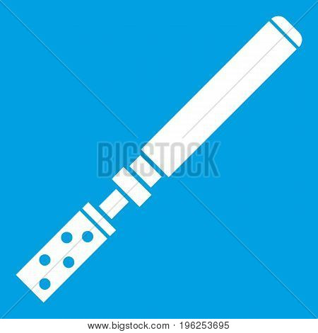 Electronic cigarette with cartridges icon white isolated on blue background vector illustration