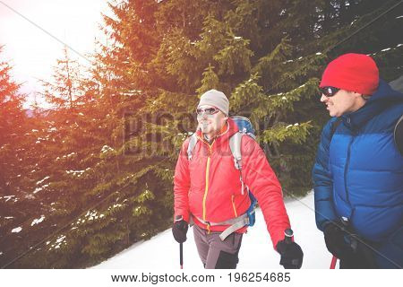 Two Climbers In The Winter.