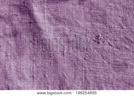 Violet Color Hessian Sack Cloth Pattern.