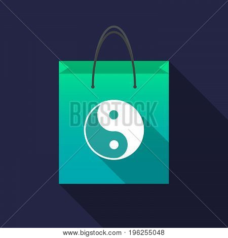 Long Shadow Shopping Bag With A Ying Yang