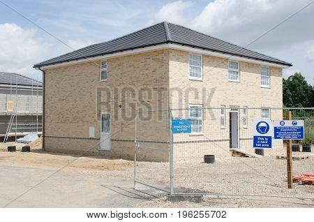 Elmstead Essex United Kingdom -17 July 2017: Large new house being built on housing development