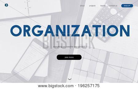 Organization with digital device website