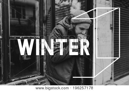 Coldness Winter Weather Season Climate Box Graphic
