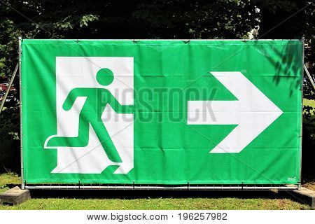 An image of a exit sign - security
