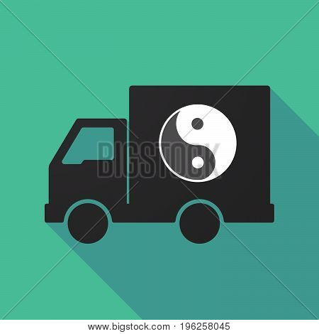 Long Shadow Truck With A Ying Yang