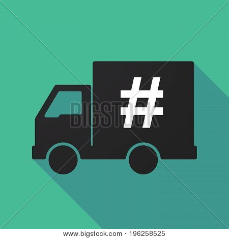 Long Shadow Truck With A Hash Tag