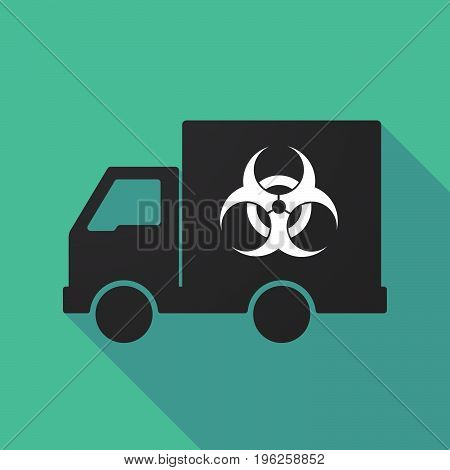 Long Shadow Truck With A Biohazard Sign