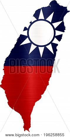 flag map taiwan illustration country  nation  design