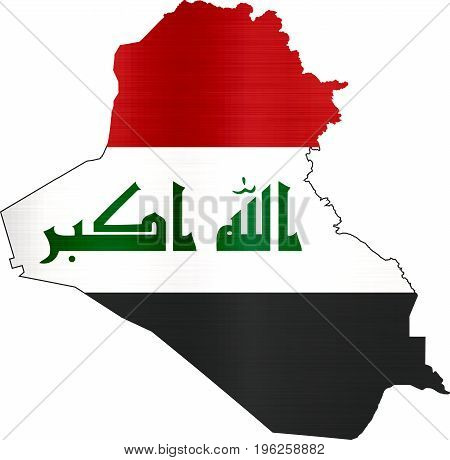 flag map iraq illustration country  nation  design